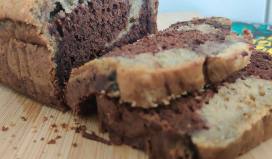 vegan suikervrije bananenchocoladecake
